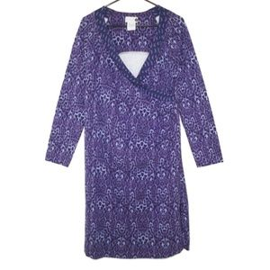 NEW Soft Surroundings Surplice Safari Dress Wrap